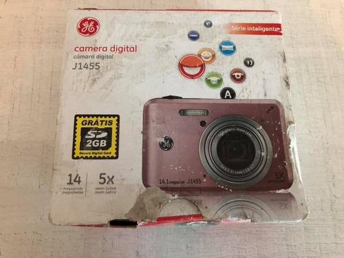camera digital ge j1455 rosa 14mp 5x zoom. frete grátis nova