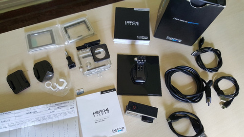 camera digital gopro hero4 silver (touch) c/ display touch s