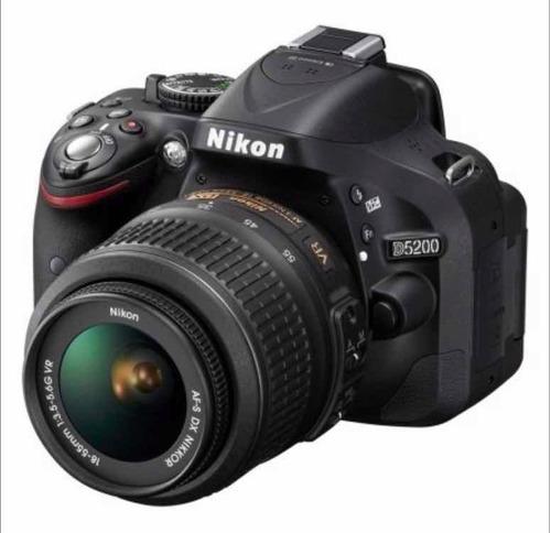 camera digital nikon d5200 24.1 mp com lente af-s 50mm/1.8g