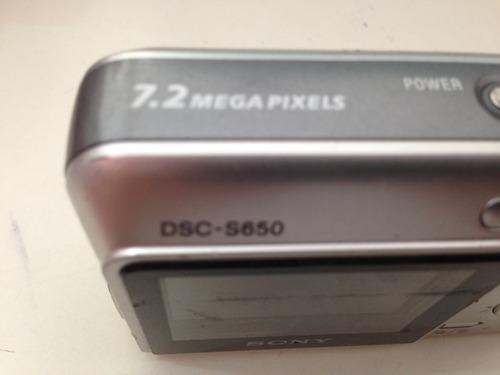 camera digital para retirar peças sony s650