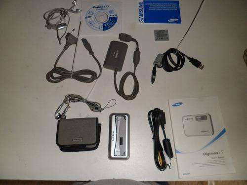 camera digital samsung digimax  5 mp e acessórios