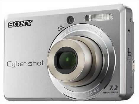 camera digital sony cyber shot  usada / prata / sem bateria