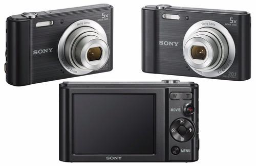 camera digital sony dsc-w800 20.1 mp capa + micro 32gb