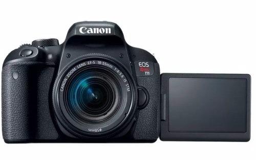 camera dslr canon t7i 18-55mm is stm lançamento wifi