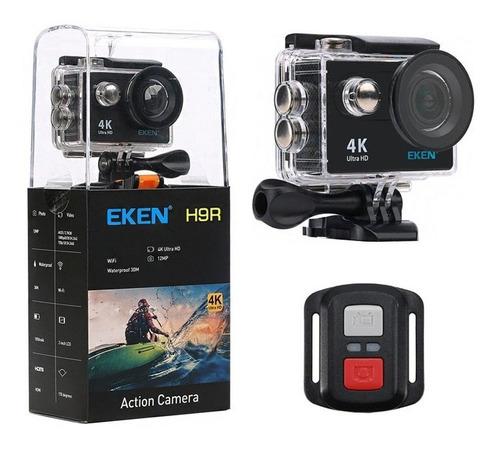 camera eken 4k wifi h9r estilo go pro + bateria + controle