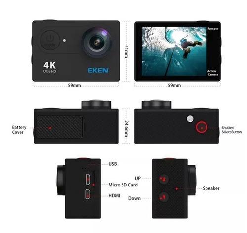 camera eken h9r 4k original wifi visor controle esporte surf