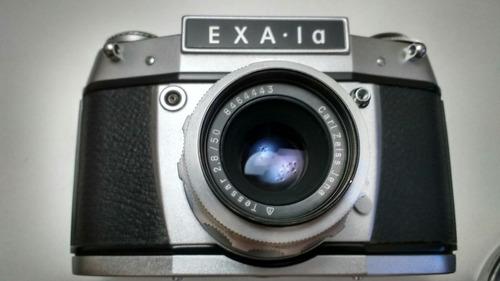 camera exakta exa-la + zeiss jena 50mm 2.8 lindas!