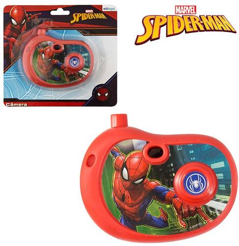 camera fotografica infantil com imagem homem aranha spider m