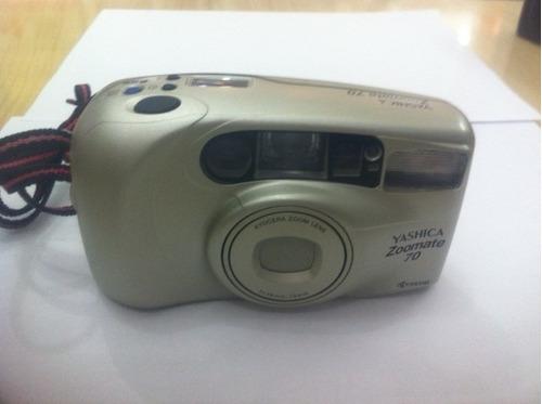 camera fotografica yashica zoomate 70 dourada ótimo estado!