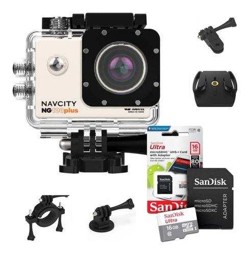 camera gopro action can full hd fotografica + sandisk 16gb