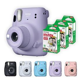 Camera Instax Mini 11 Com Kit De 30 Filmes Polaroid Fujifilm