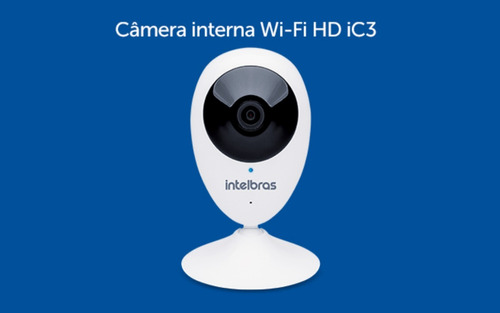 camera intelbras ic3 interna c/ aplicativo mibo