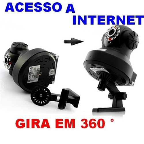 camera ip hd wireless seguranca visão noturna via internete