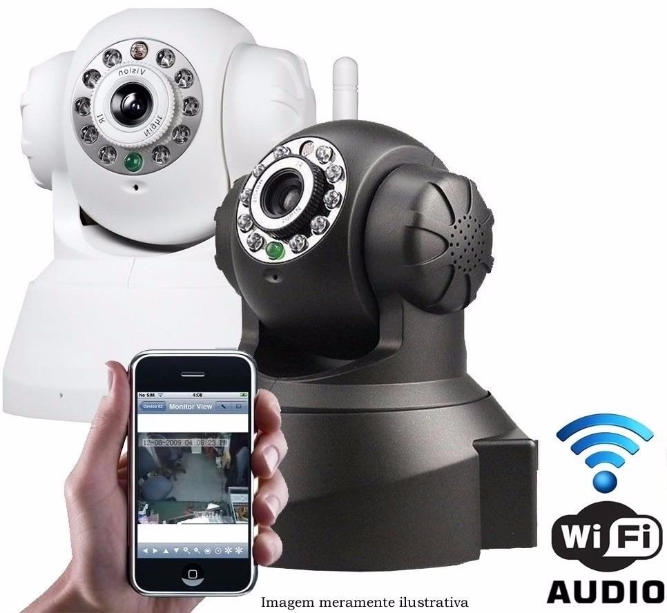 Camera Ip Hd Wireless Seguranca Visão Noturna Via