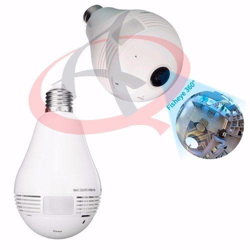 camera ip lampada panoramica seguraça vr 360 wifi led v380s