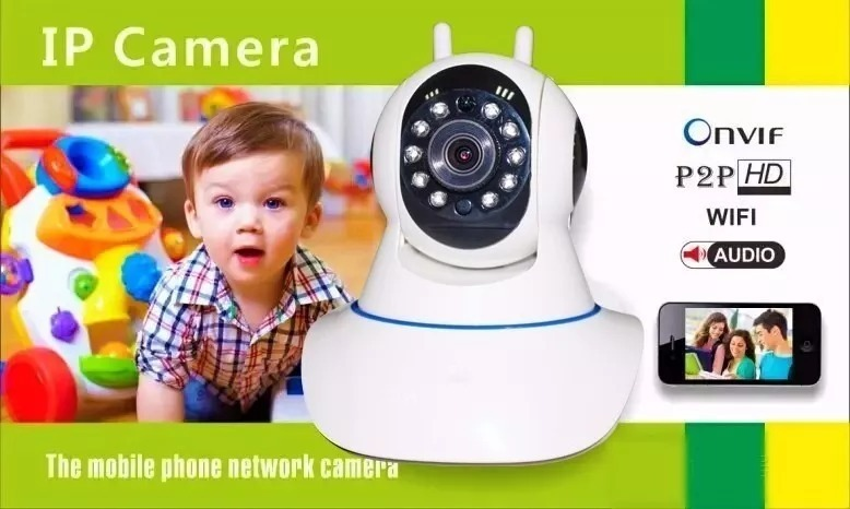 Camera Ip Onvif Hd Wifi Hd App Yoosee Yp2p 2 Antenas