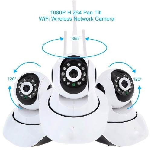 camera ip robo p2p visao noturna wireless wifi sem fio 720hd