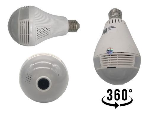 camera ip seguraca lampada vr 360 panoramica c/visão noturna