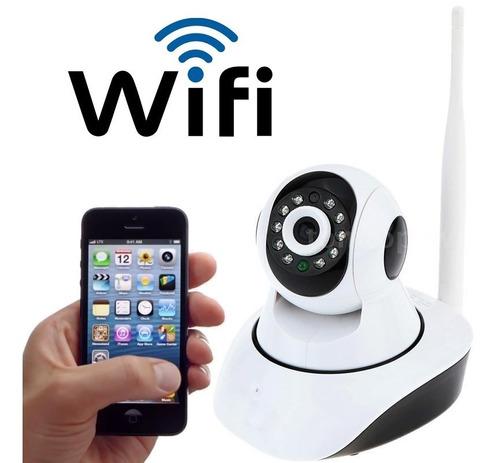 camera ip visão noturna wireless wifi 720hd 2 antenas onvif