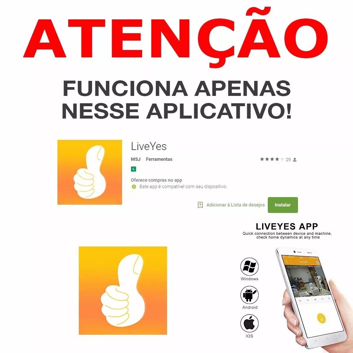 Camera Ip Wifi P2p Visão Noturna 2 Antenas App Live Yes Hd