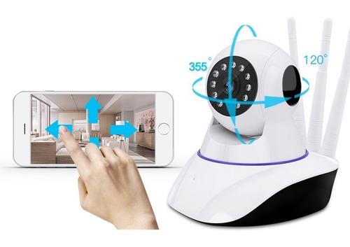 camera ip wireless sem fio wifi hd 3 antenas sensor noturna