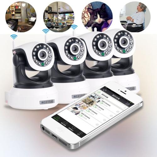 camera ip wireless visão noturna iphone, android c micro sd