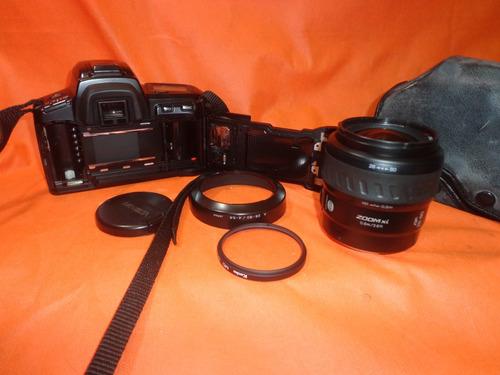 camera minolta x-5xi + lente minolta + filtro + bolsa