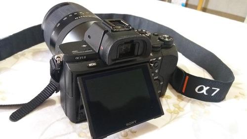 camera mirrorless sony a7s ii  4k com 2 lentes oportunidade