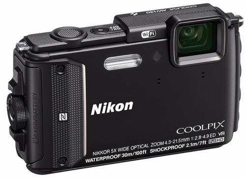 camera nikon aw130 a prova d'agua 30m gps, wi-fi