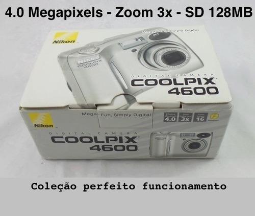 camera nikon coolpix 4600 raridade perfeito funcionamento