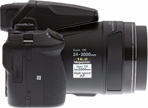 camera nikon p900 vr 16mp gps+wifi +64gb+bolsa+tripé s/juros