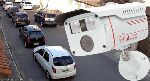 camera profissional ahd imagem full hd 1080p  placa carros