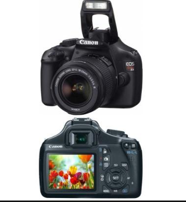 camera profissional canon t3 rebel novíssima +  brinde case.