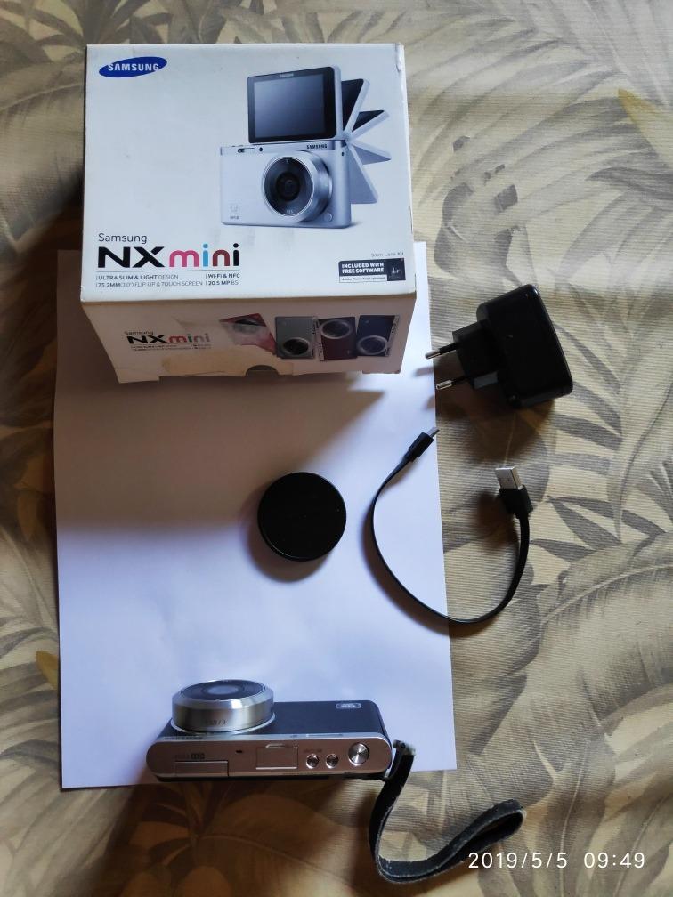 63b55c3949 Camera Samsung Nx Mini Com Lente 9x - R$ 850,00 em Mercado Livre