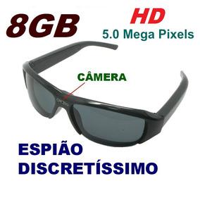 630227ea129eb Óculos Espião De Sol 8gb Qualidade Hd 720p  Imperceptível.