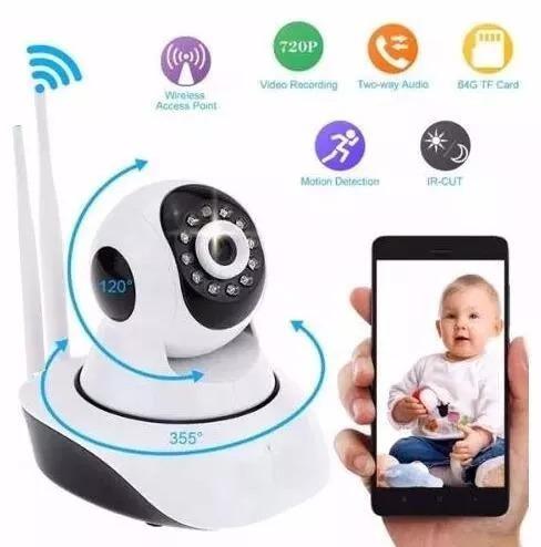 camera segurança ip s/fio wireless visão noturna audio 1,3mp
