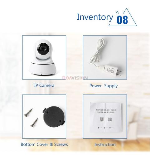 camera segurança ip visão noturna  wifi sem fio 720hd