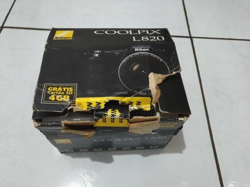 camera semi profissional nikon coolpix l820, 16 mp, full hd.