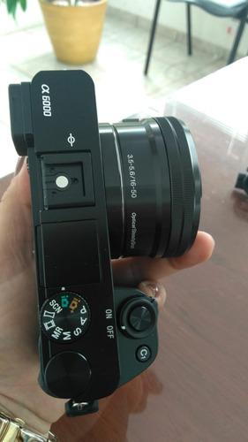 camera sony a6000+ lente 16-50mm