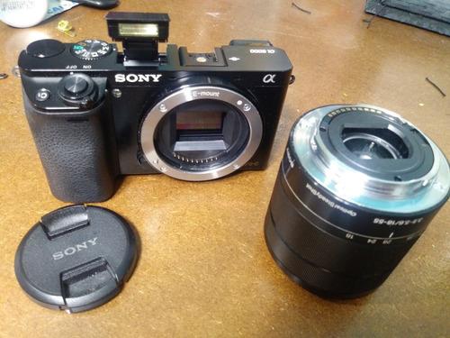 camera sony a6000 + lente e-mount 18-55 em perfeito estado