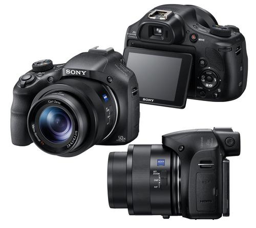 camera sony hx400v  zoom 50x wi-fi  +64gb c/10+capa+tripe