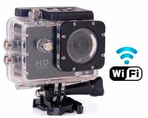 7457f68b0613d4 Camera Sports Hd Dv 1080p H.264 Full Hd Wifi 30m Agua - R  398,90 em  Mercado Livre