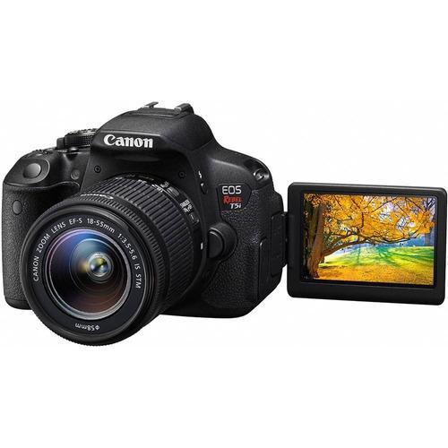 camera t5i+bolsa+mini tripé+cartão de memória e 2 baterias