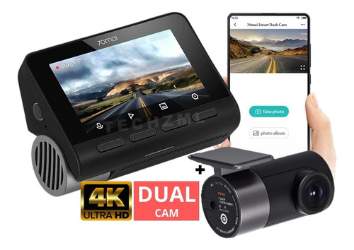 camera veicular automotiva xiaomi 70mai a800 4k dual carro
