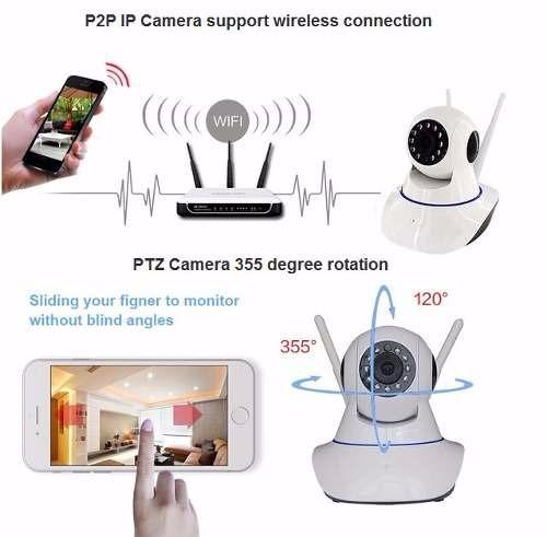 camera vigia alta resolução wifi noturna wireless hd 720 p2p