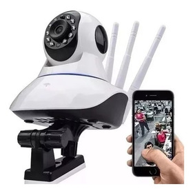 Camera Wi-fi Ip Robo 3 Antenas Hd 720p Night Vision 1.0 Pix