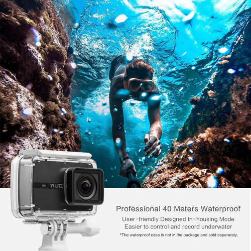 camera xiaomi yi lite 4k 16mp filmadora + 2 baterias  #e10
