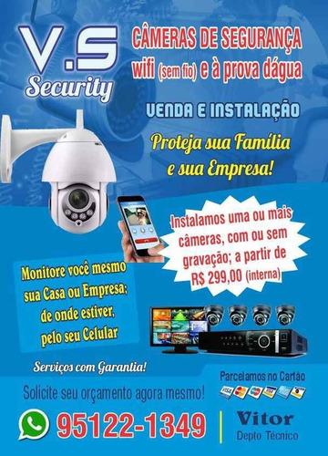 cameras 299,00 instalado
