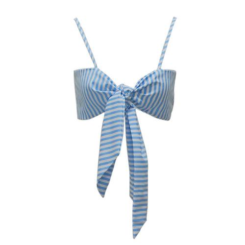 cami de rayas de las mujeres camisn de azul xl