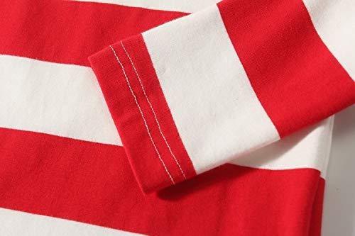 Camii Mia Big Girls Classic Long Sleeve Cotton Stripe Tee T-Shirt